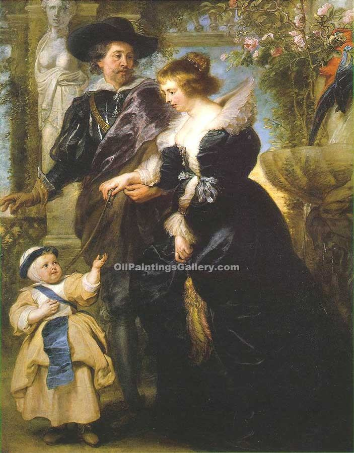 """Rubens his wife Helena Fourment and their Son"" by  Peter Paul Rubens"