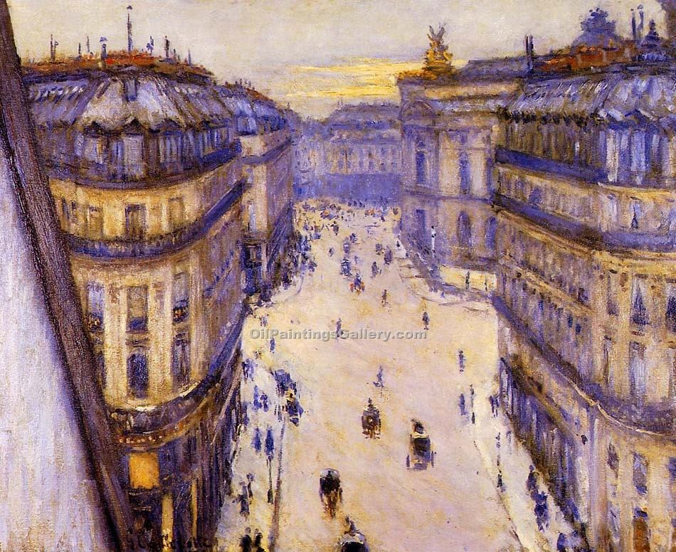 """Rue Halevy Seen from the Sixth Floor"" by  Gustave Caillebotte"