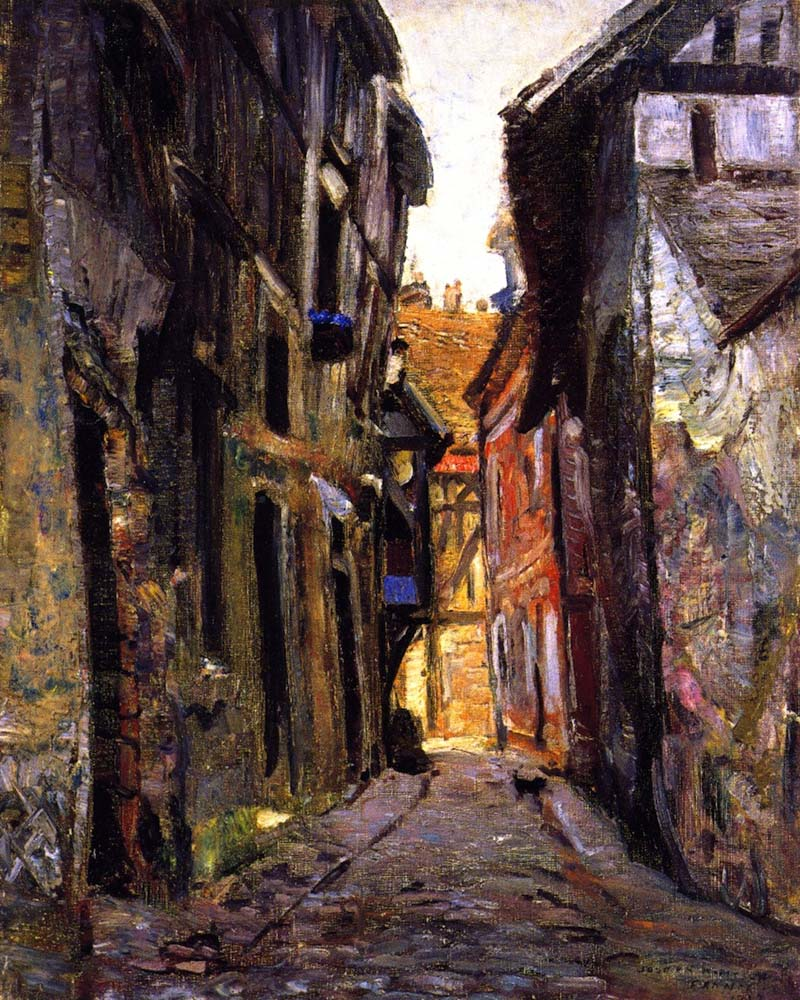 Ruelle Malot, Vernon, France by Joseph Kleitsch | Oil Art Gallery - Oil Paintings Gallery