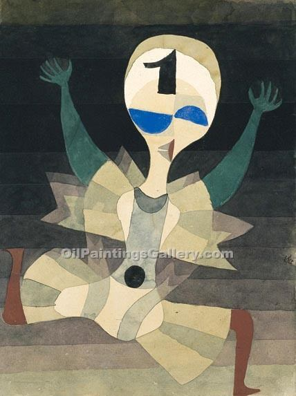 """Runner at the Goal"" by  Paul Klee"