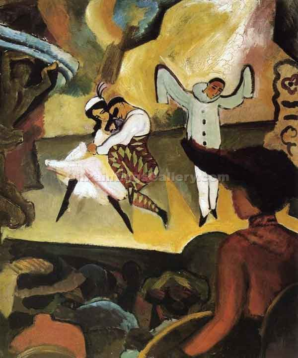 """Russian Ballet 1912"" by  August Macke"