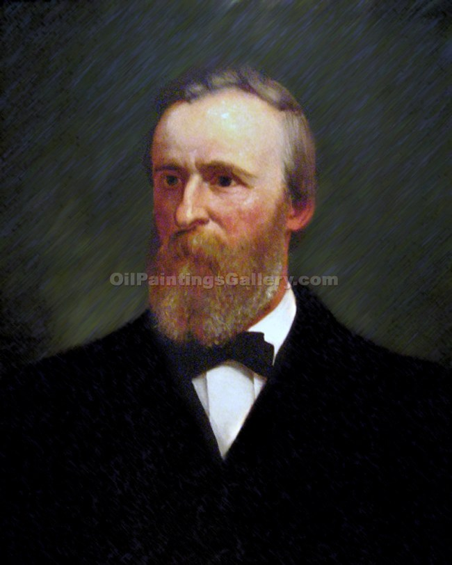 """Rutherford B. Hayes, 19th President, Painted by Eliphalet Andrews"""