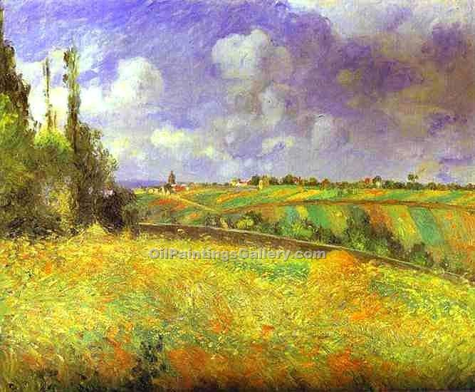 """Rye Fields at Pontoise"" by  Camille Pissarro"