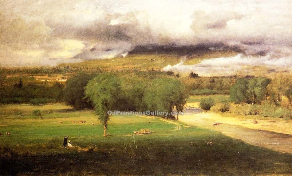 """Sacco Ford Conway Meadows"" by  George Inness"