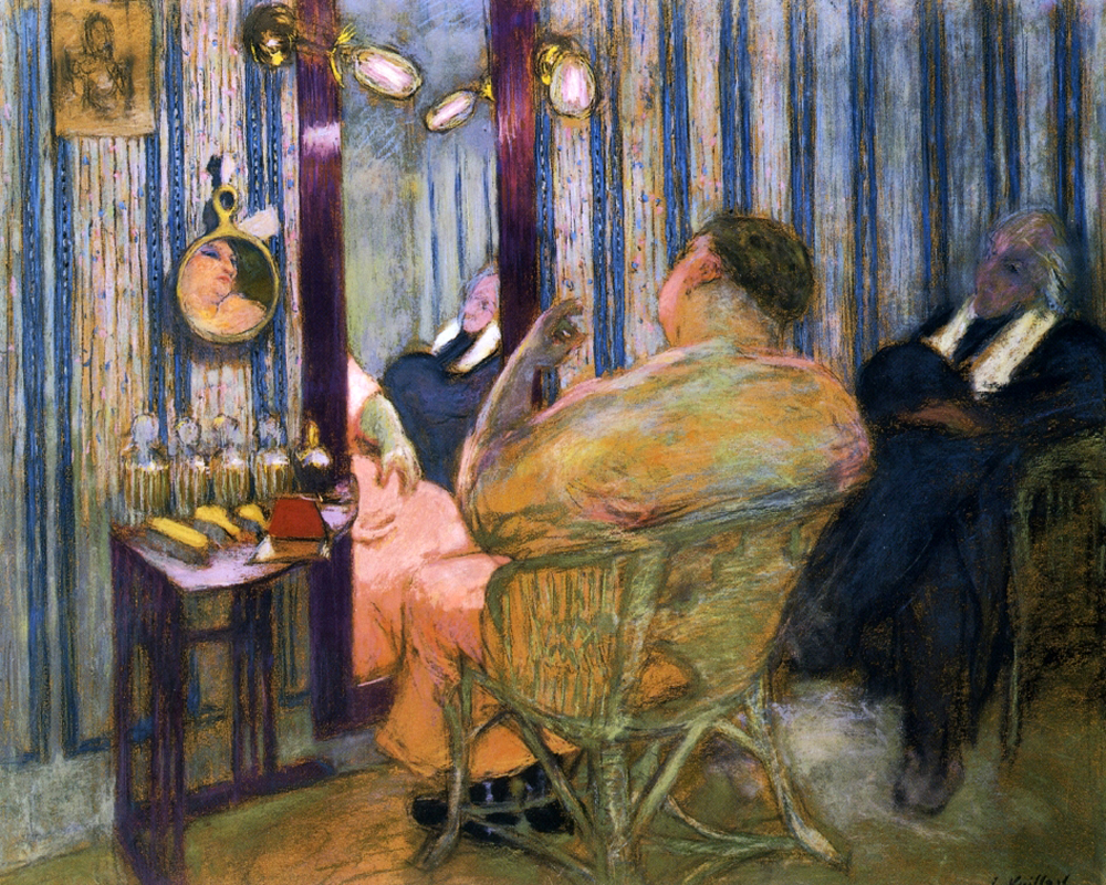 Sacha guitry in his dressing room by edouard vuillard for Airbrushing mural