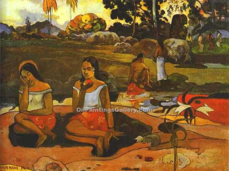 """Sacred Spring 38"" by  Paul Gauguin"