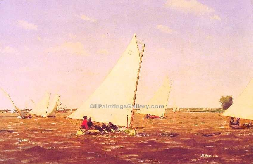 """Sailboats Racing on the Deleware"" by  Thomas Eakins"