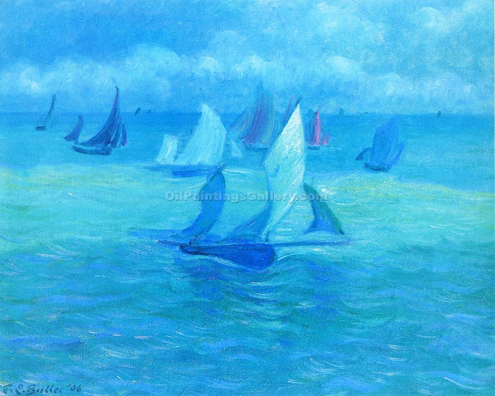 """Sailboats on the Water"" by Theodore Earl Butler"