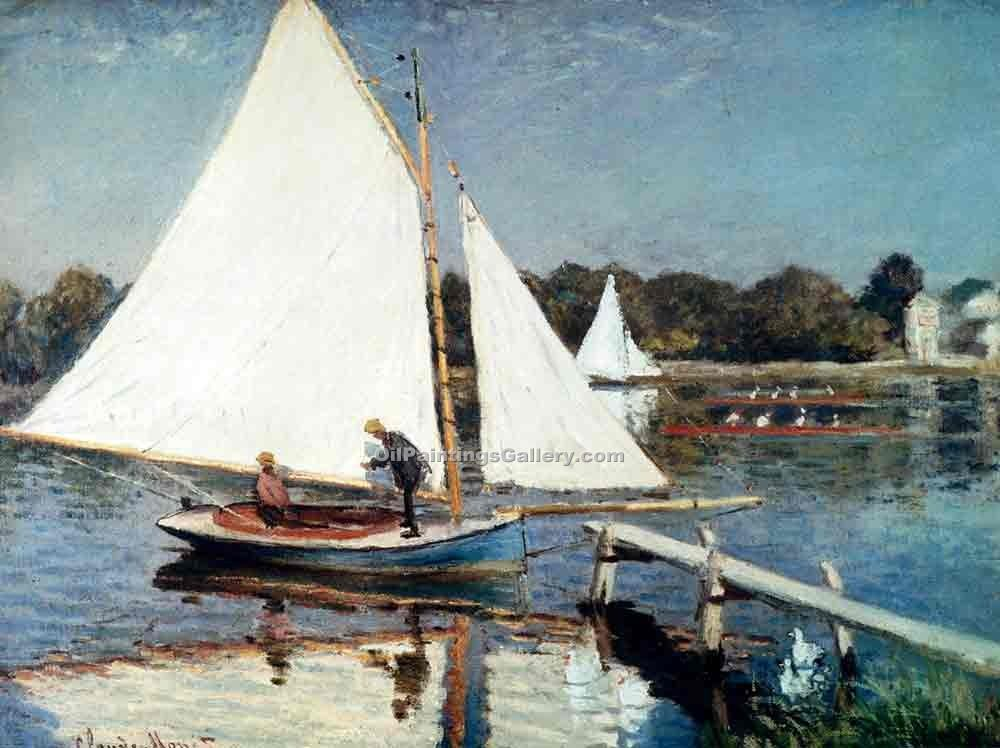 """Sailing at Argenteuil"" by  Claude Monet"