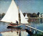 Sailing at Argenteuil by  Claude Monet (Painting ID: MO-0890-KA)