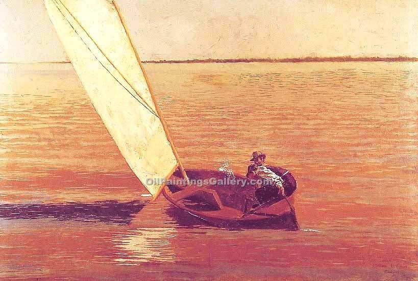 Sailing by Eakins Thomas | Artwork For Sale - Oil Paintings Gallery