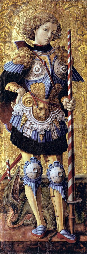 """Saint George 83"" by  Carlo Crivelli"