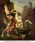 Saint George and the Dragon by  Gustave Moreau (Painting ID: CM-2154-KA)