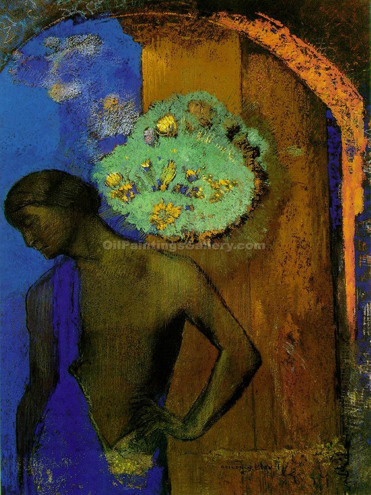 Saint John 30 by Redon Odilon | Oil Paintings Website - Oil Paintings Gallery