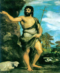Saint John The Baptist by   Titian (Painting ID: DA-0167-KA)