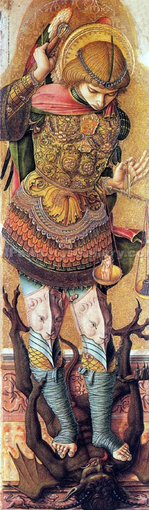 """Saint Michael"" by  Carlo Crivelli"