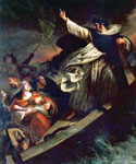 Saint Thomas Aquinas Preaching Trust in God During a Tempest by  Ary Scheffer (Painting ID: CL-0224-KA)