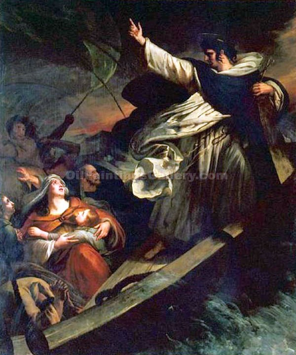 """Saint Thomas Aquinas Preaching Trust in God During a Tempest"" by  Ary Scheffer"