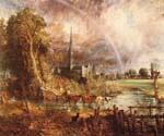 Salisbury Cathedral from the Meadows by  John Constable (Painting ID: LA-2902-KA)