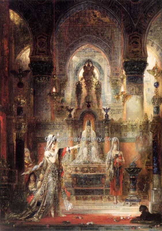 Salome Dancing before Herod by Moreau Gustave | Masterpiece Reproductions - Oil Paintings Gallery