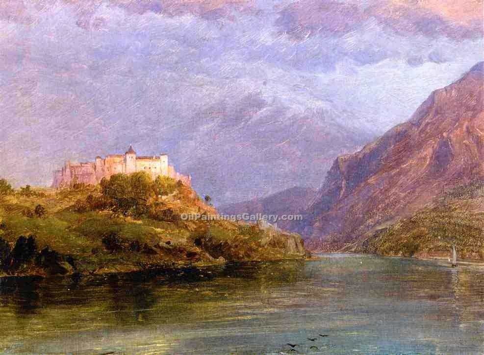 """Salzburg Castle 24"" by  Frederic Edwin Church"