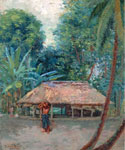 Samoan Landscape by  Theodore Wores (Painting ID: LA-2872-KA)