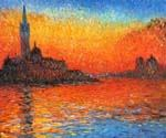 San Giorgio Maggiore by Twilight by  Claude Monet (Painting ID: MO-1050-KA)