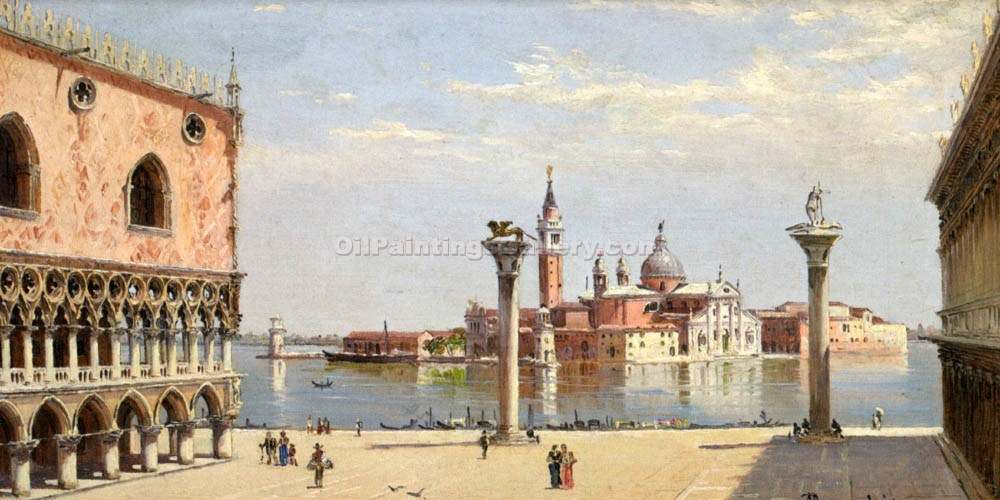 San Giorgio Maggiore in Venice by Antonietta Brandeis | Oil Paintings Website - Oil Paintings Gallery