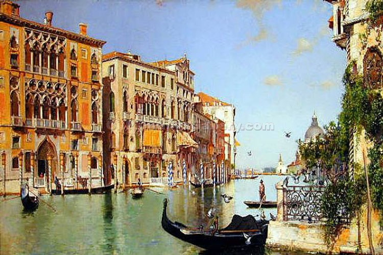 Santa Maria Della Salute Seen from the Academia in Venice by Jose Moreno Carbonero | Paintings Replicas