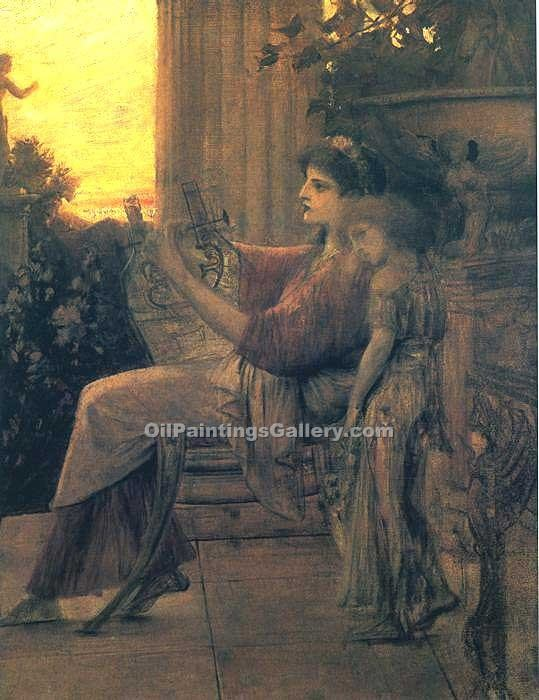 Sappho 93 by GustavKlimt | Angel Paintings - Oil Paintings Gallery