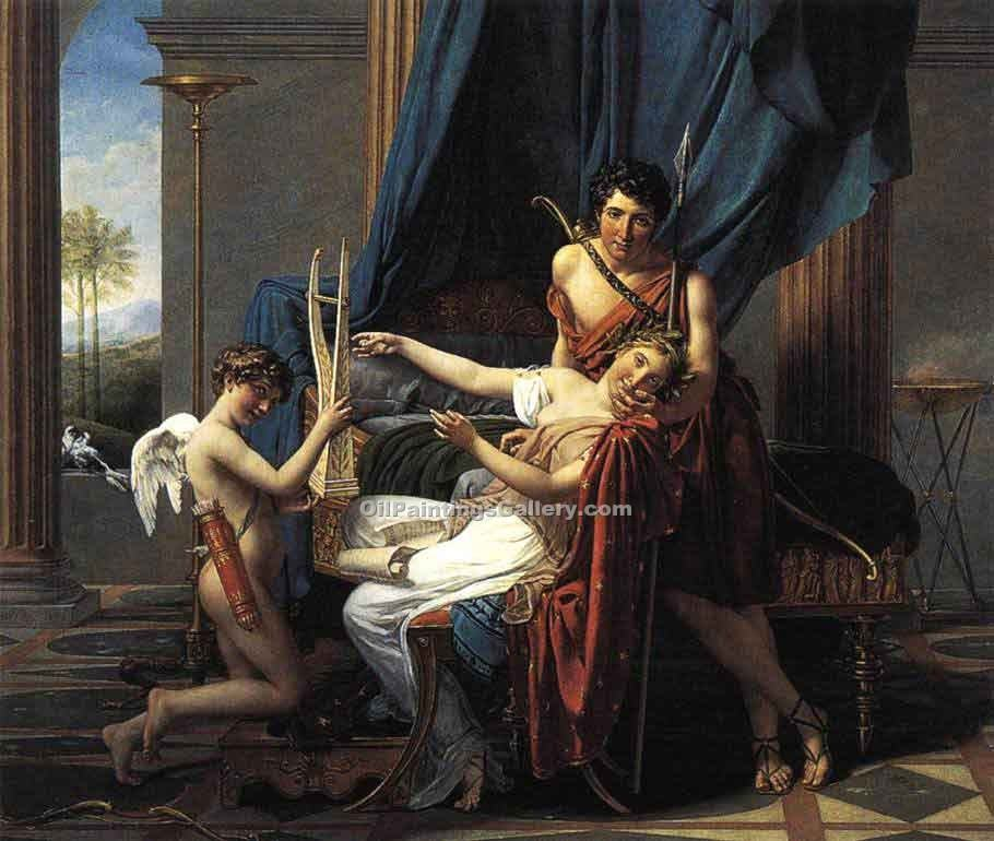 """Sappho and Phaon"" by  Jacques Louis David"