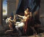Sappho and Phaon by  Jacques Louis David (Painting ID: CL-4163-KA)