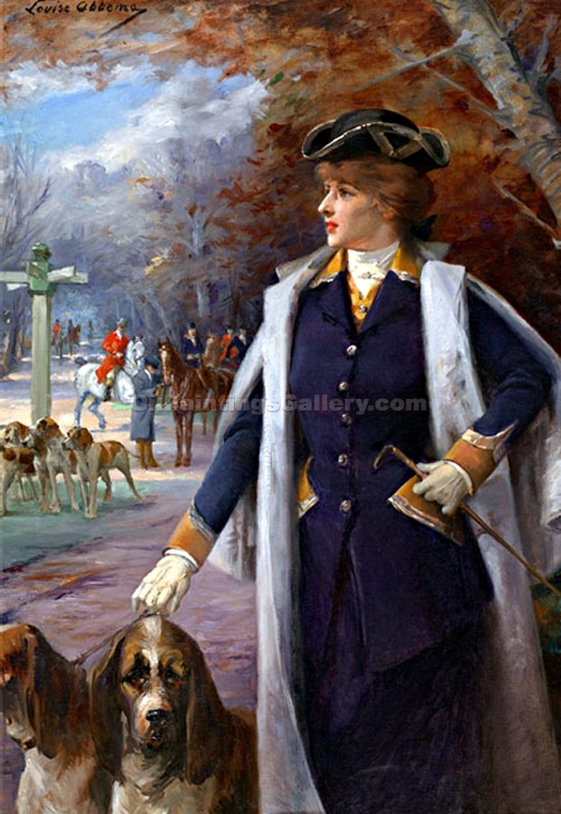 """Sara Bernhardt Hunting with Hounds"" by  Louise Abbema"
