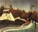 Saw Mill Outskirts of Paris by  Henri Rousseau (Painting ID: RO-0120-KA)