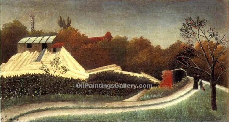 """Saw Mill Outskirts of Paris"" by  Henri Rousseau"