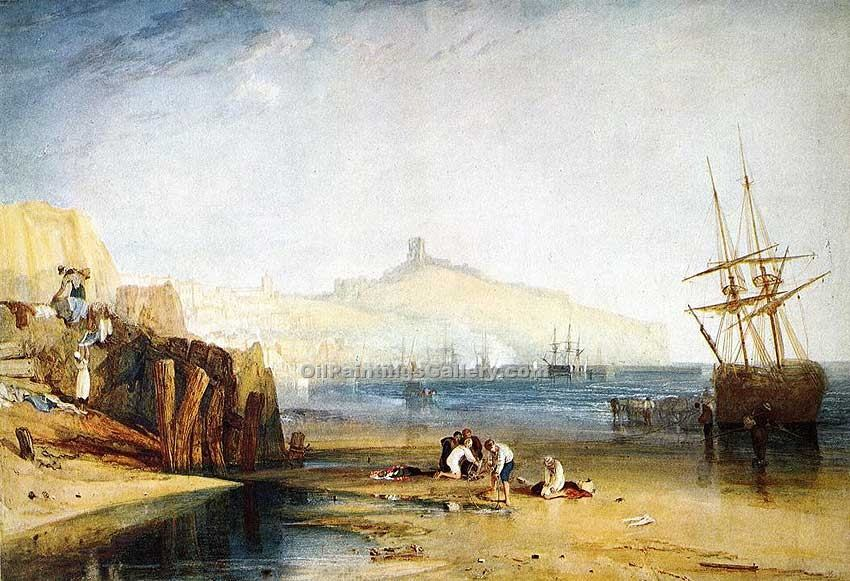 """Scarborough Town and Castle"" by  William Turner"