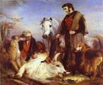 Scene in Chillingham Park by  Sir Edwin Henry Landseer (Painting ID: AN-1991-KA)