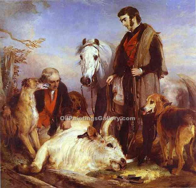 """Scene in Chillingham Park"" by  Sir Edwin Henry Landseer"