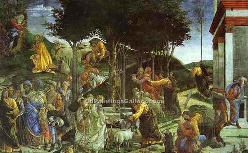 """Scenes from the Life of Moses"" by  Sandro Botticelli"