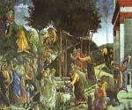 Scenes from the Life of Moses by  Sandro Botticelli (Painting ID: DA-7056-KA)