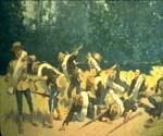 Scream of Shrapnel at San Juan Hill by  Frederic Remington (Painting ID: GE-1913-KA)
