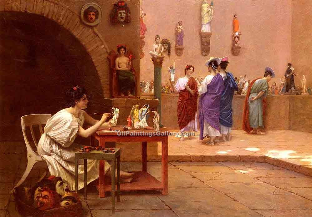 """Sculpture Vitam Insufflated Pittura "" by  Jean Leon Gerome"