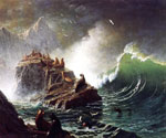 Seals on the Rocks, Farallon Islands by  Albert Bierstadt (Painting ID: LA-3395-KA)