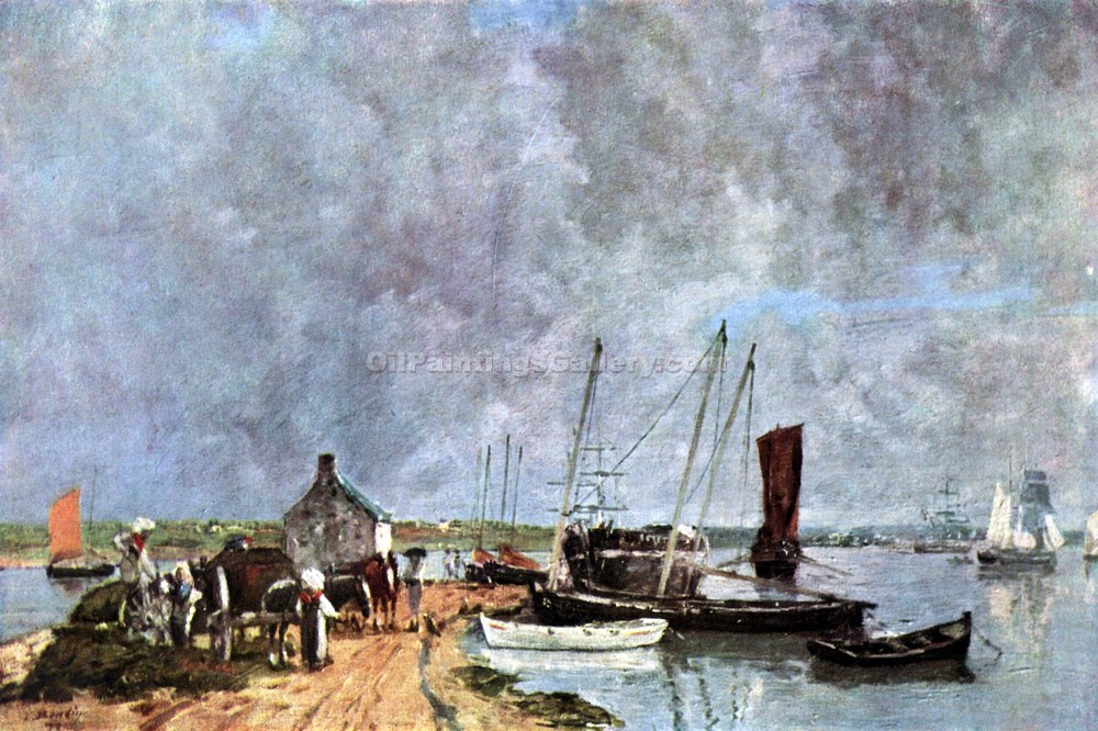 """Seaport"" by  Eugene Louis Boudin"