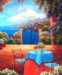 Seaside Terrace  (Painting ID: LA-1112-KA)