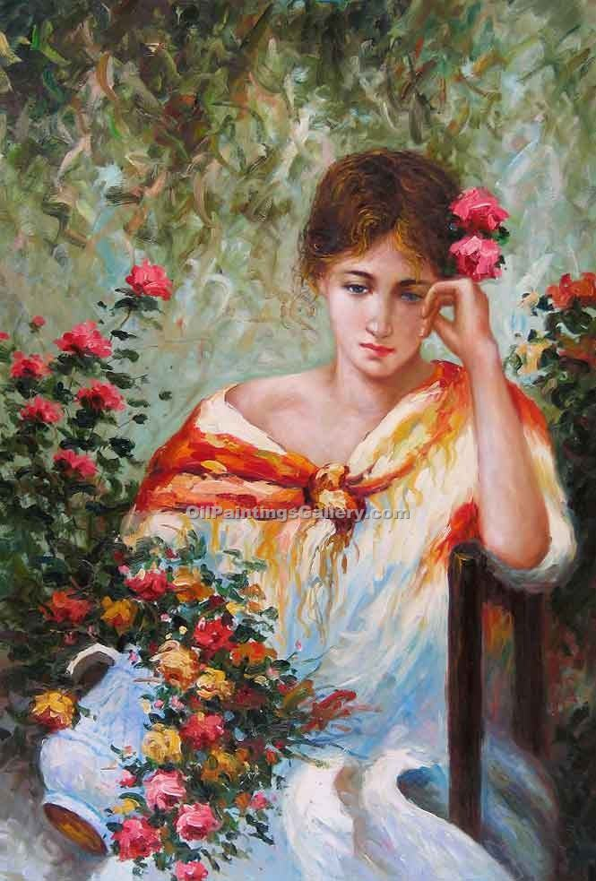 Buy Figure and Portrait Oil Painting Online - Figurative Reproduction Paintings - Seated Girl