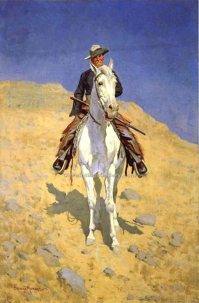 """Self Portrait on a Horse"" by  Frederic Remington"