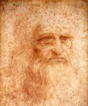 Self Portrait by  Leonardo Da Vinci (Painting ID: DV-2014-KA)