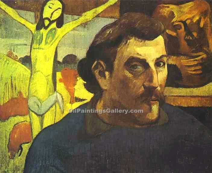 """Self Portrait with Yellow Christ"" by  Paul Gauguin"