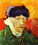Self Portrait with a Pipe by  Vincent Van Gogh (Painting ID: VG-0280-KA)